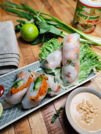Vietnamietiški suktinukai - Summer Rolls
