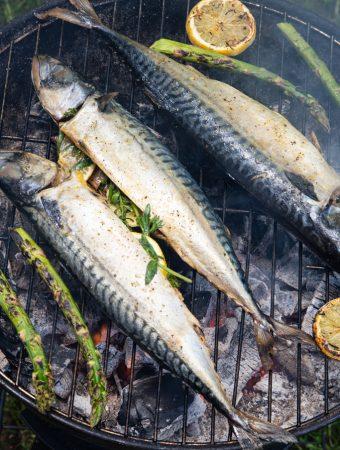 žuvis ant grotelių skumbrė pagr