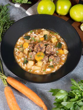 meksikietiška sriuba su ryžiais