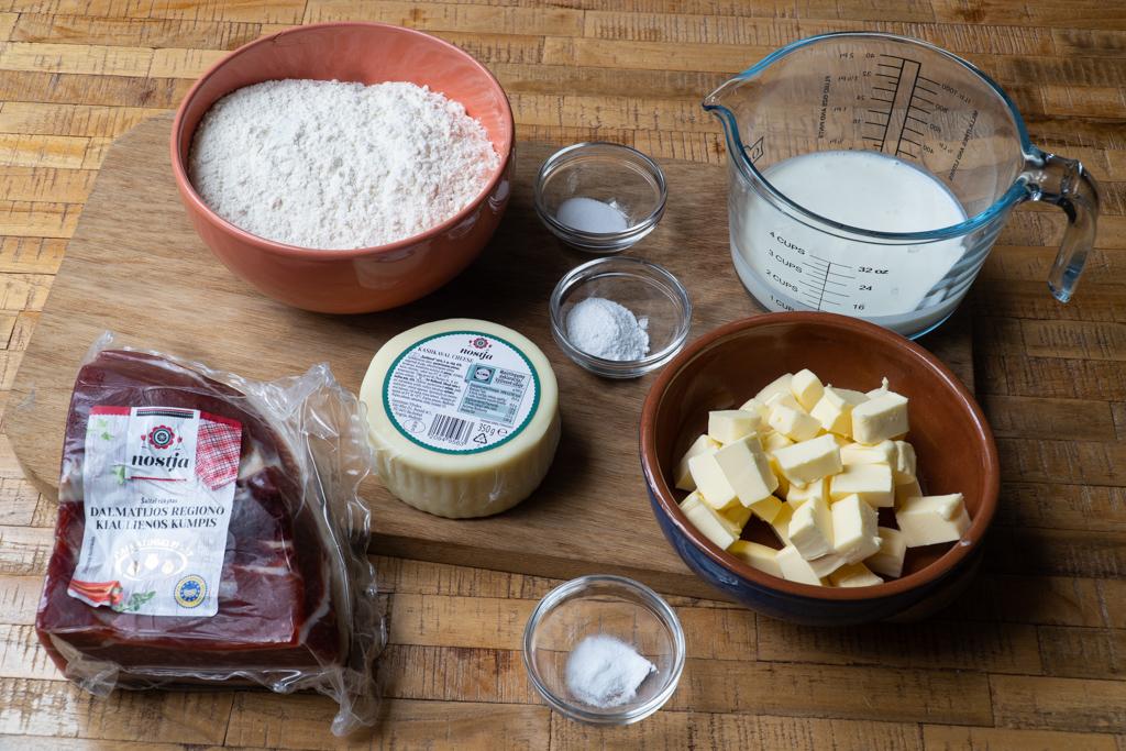 sausainiai su pasukomis, ingredientai
