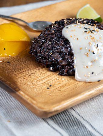 tailandietiškas desertas - lipnūs ryžiai